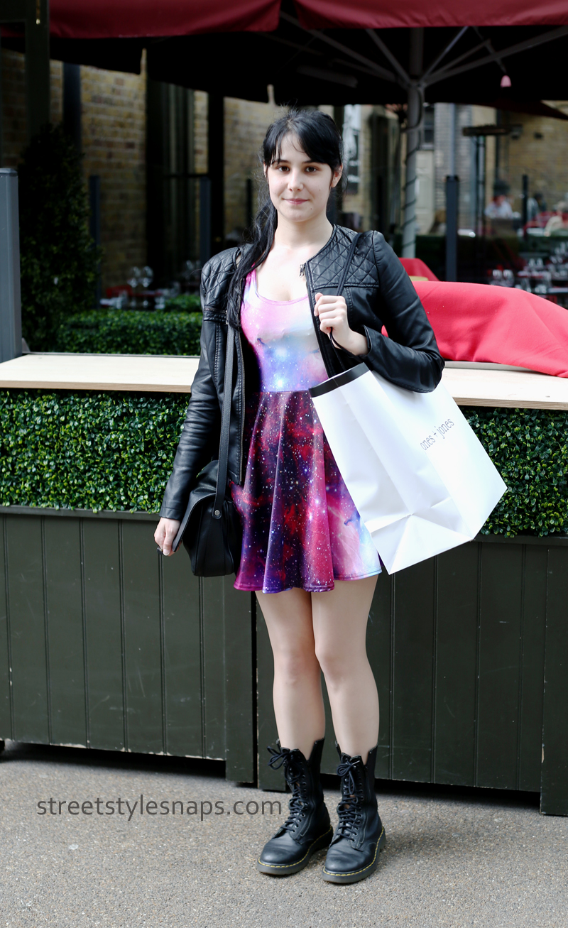 AliExpress Galaxy Print Skater Dress Street Style London