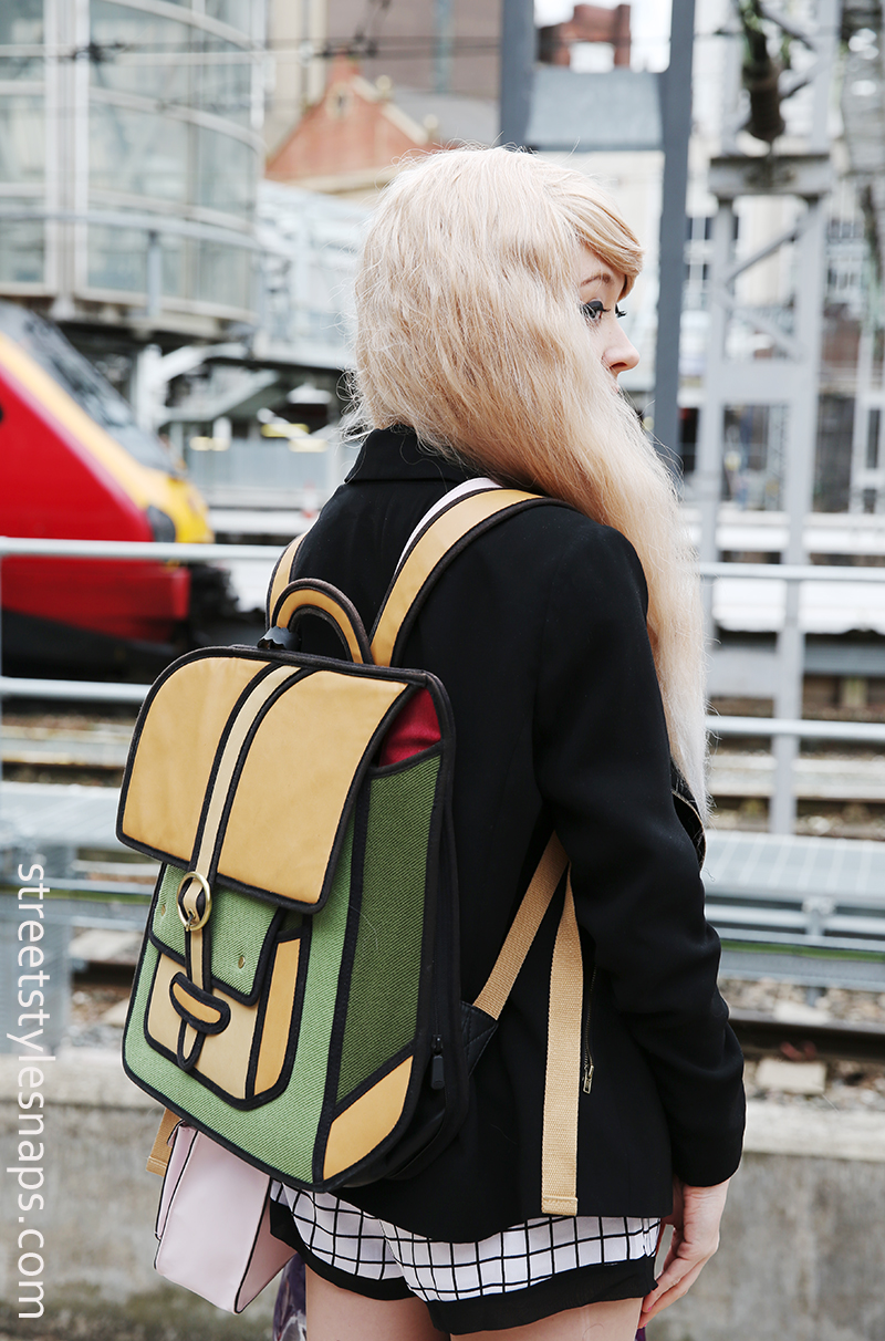JumpFromPaper Wanderlust Backpack Limited Edition 2D Bag Caramel