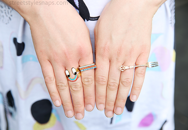 Lazy Oaf Rainbow Smile Ring Jewellery Accessories Fork