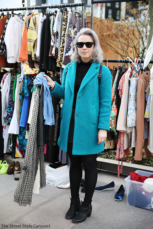 London Street Style Tu at Sainsbury's Coat Teddy Textured Blue Green Turquoise Teal Aquamarine Office Ankle Boots Black