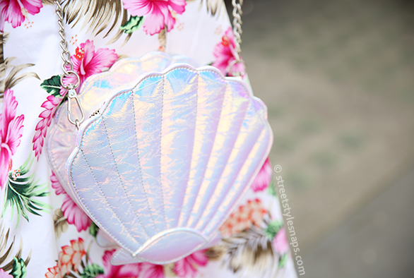 Skinny Dip Shell Bag Iridescent Cross Body Mermaid